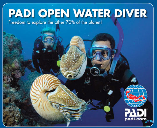 padi free to explore the 70% of the planet