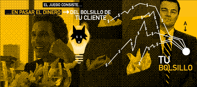 el lobo de wall sreet dinero de tu cliente