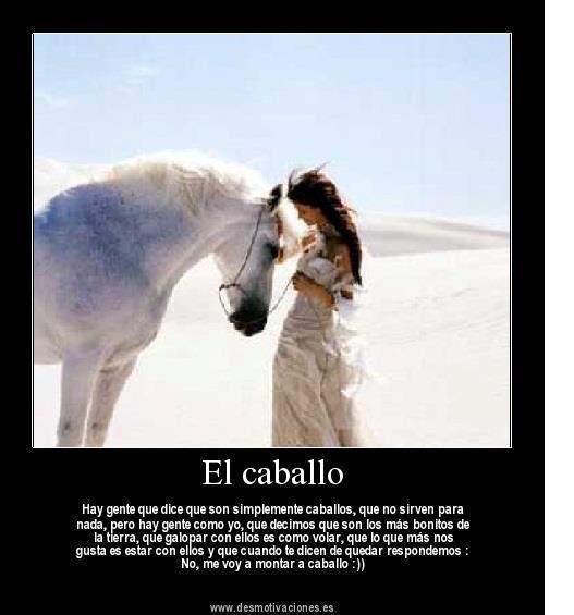 montar mi caballo