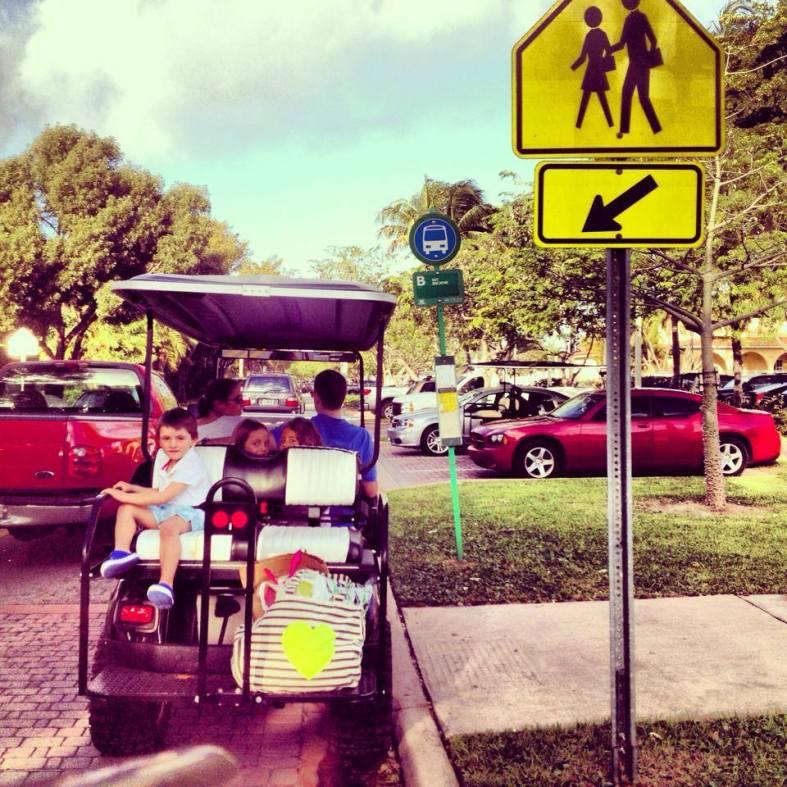 carrito de golf en miami