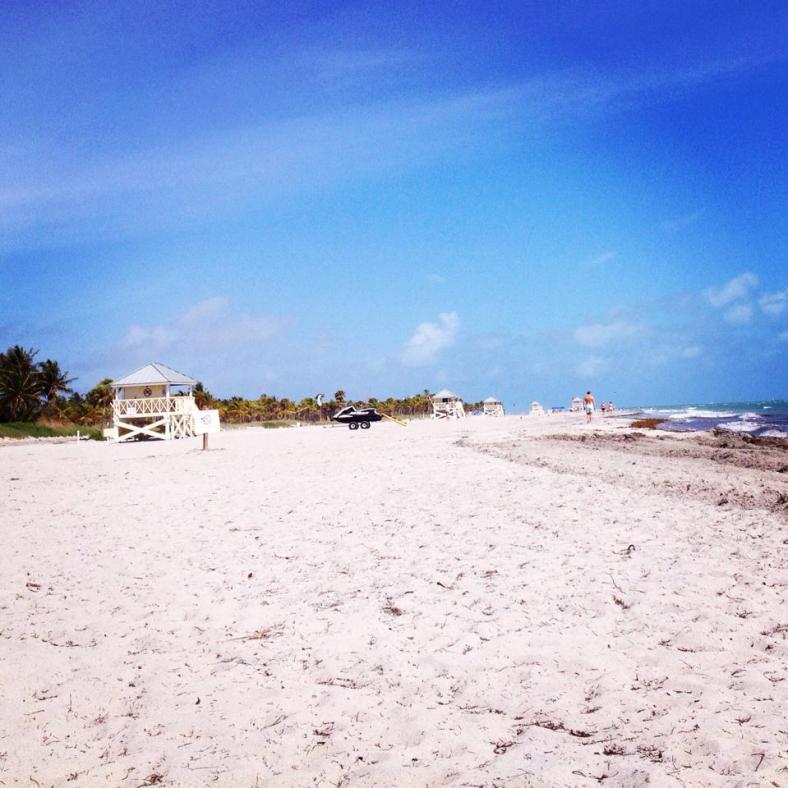 key biscayne beach nobody there