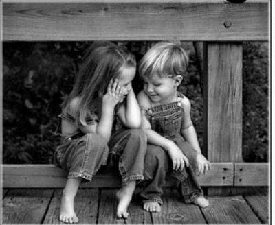 niños amigos