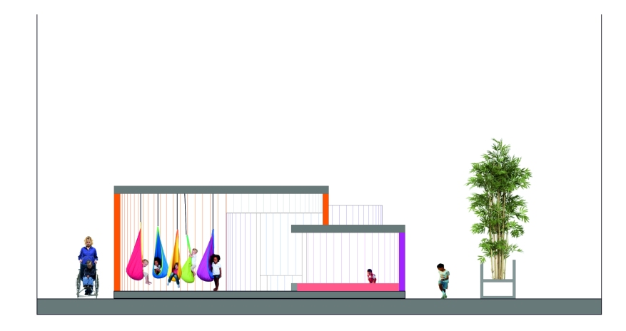 Plano jardín Hospital Getafe