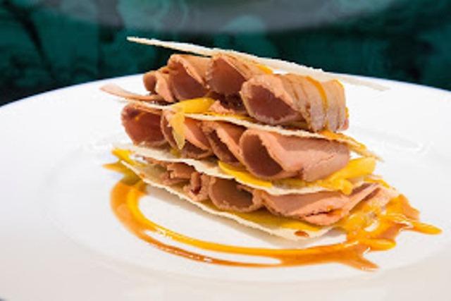 CarayMadrid_Lascas de mango , foie y crujiente