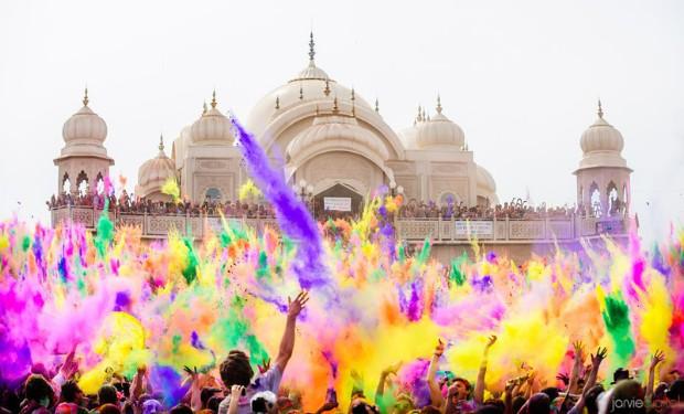 holi el festival de los colores taj mahal