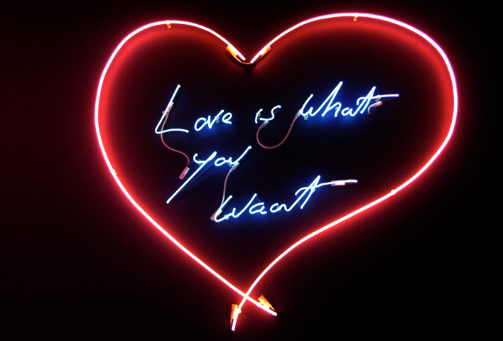 Love_is_LRGlove is what you want tracey emin neon carmina baker