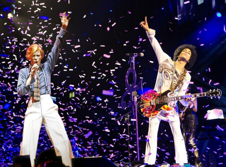 prince y bowier juntos en concierto carmian baker 2016
