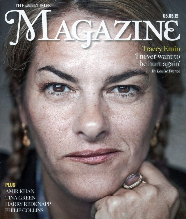 Tracey emin cover the magazine the times