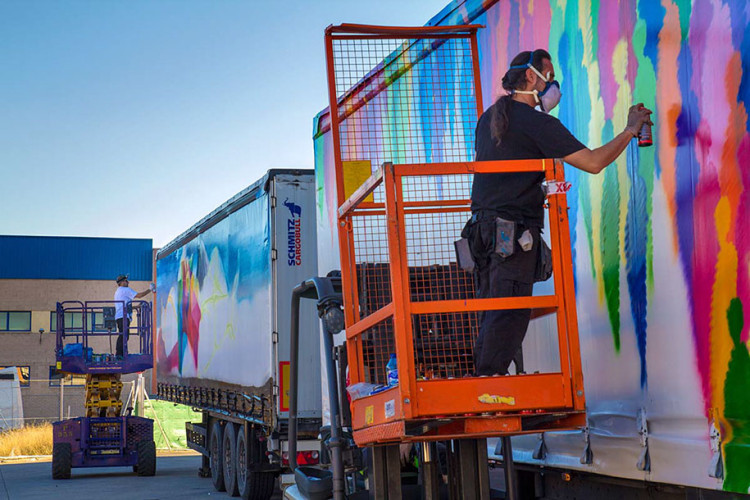 truck art project madrid carmina baker art in progress