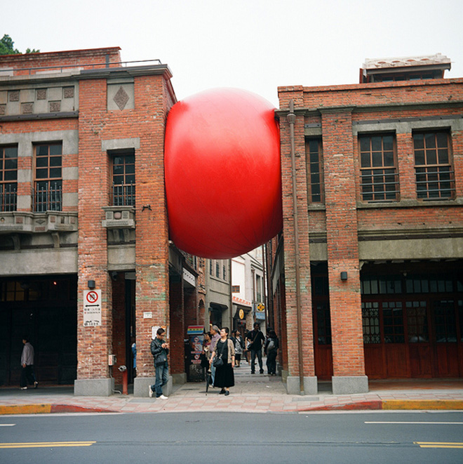 arte hinchable the redball project