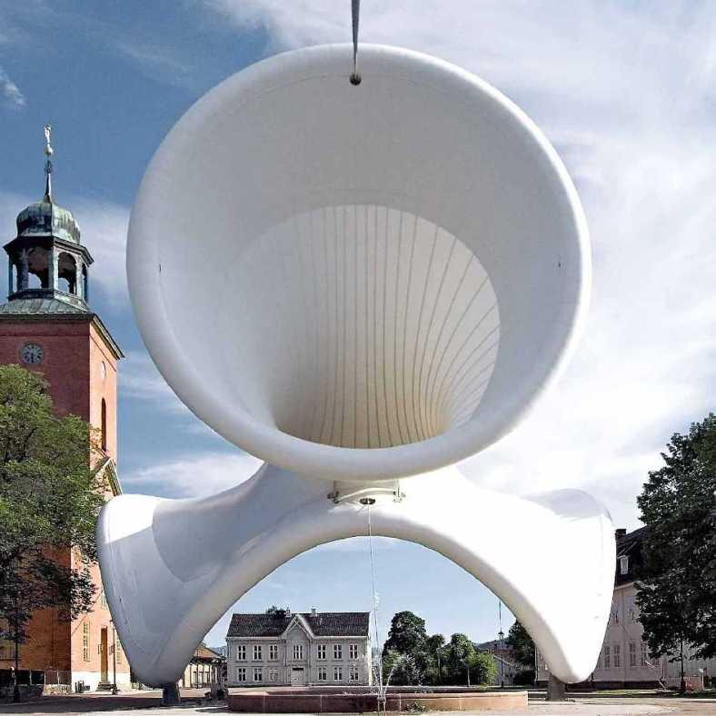 arquitectura inflable Snøhetta, Tuballoon (2006) © Robert Sannes