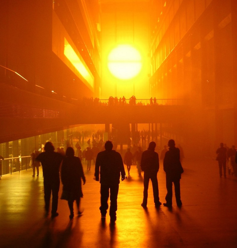 site-specific Olafur Eliasson tate Modern light installation 2