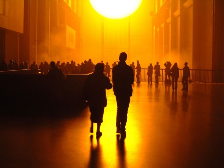 site-specific Olafur Eliasson tate Modern light installation 3
